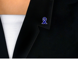 <br>                 EXCLUSIVELY OURS!!!<bR>       W9112P - SILVER FINISH TRIM<bR>BLUE AWARENESS RIBBON TACK PIN<Br>                       AS LOW AS $.85