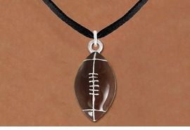 <Br>                   EXCLUSIVELY OURS!<BR>W9528N - UNISEX SUEDE-LIKE CORD<Br>        & FOOTBALL DROP NECKLACE<Br>                      AS LOW AS $3.05