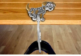 <Br>     KEEP YOUR PURSE GERM FREE!!<Br>W11422BH - MARCASITE ACCENTED<br>        DALMATION PURSE HANGER<Br>                    AS LOW AS $6.80