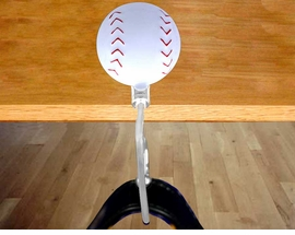 <BR>KEEP YOUR PURSE GERM FREE!!<br> W13428BH - BASEBALL PURSE<Br>       HANGER AS LOW AS $6.80