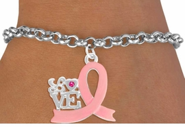"<BR>                 LEAD AND NICKEL FREE! <BR>                   ALLAN ROBIN DESIGN<BR>                  ASSEMBLED IN THE USA<BR>         W17415B - ""LOVE"" PINK RIBBON <BR> TOGGLE BRACELET FROM $4.73 TO $10.50<br>                                   ©2010"