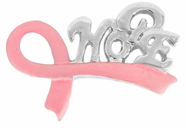 "<BR>                 LEAD AND NICKEL FREE! <BR>                   ALLAN ROBIN DESIGN<BR>          W17408P -  PINK RIBBON ""HOPE""  <BR>                      TACK PIN $1.12 EACH<br>                                   ©2010<BR>            MINIMUM QUANTITY 10 PINS <br>    NO ADDITIONAL DISCOUNTS APPLY"