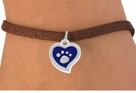<BR>             LEAD AND NICKEL FREE!  <BR>              ASSEMBLED IN THE USA<BR>  CLICK HERE TO SEE 500+ EXCITING<BR>   CHANGES THAT YOU CAN MAKE!<BR>        W805SB - BLUE AND SILVER<BR>              PAW HEART & BRACELET<Br>                FROM $4.50 TO $8.35