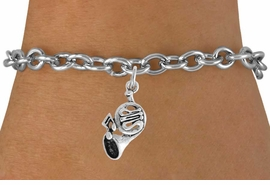 <BR>                   LEAD AND NICKEL FREE!  <BR>                   ASSEMBLED IN THE USA<BR>         CLICK HERE TO SEE 500+ EXCITING<BR>             CHANGES THAT YOU CAN MAKE!<BR>           W812SB - FRENCH HORN CHARM <Br>           & BRACELET FROM $4.50 TO $8.35