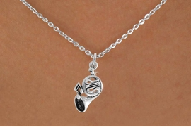 <BR>            LEAD AND NICKEL FREE!  <BR>             ASSEMBLED IN THE USA<BR>  CLICK HERE TO SEE 500+ EXCITING<BR>   CHANGES THAT YOU CAN MAKE!<BR>            W812SN - FRENCH HORN<Br>    NECKLACE FROM $4.50 TO $8.35