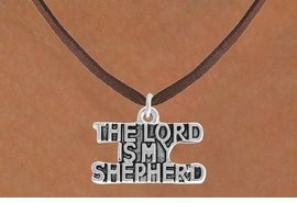 <BR>            LEAD AND NICKEL FREE!  <BR>             ASSEMBLED IN THE USA<BR>  CLICK HERE TO SEE 500+ EXCITING<BR>   CHANGES THAT YOU CAN MAKE!<BR> W814SN - THE LORD IS MY SHEPERD<Br>    NECKLACE FROM $4.50 TO $8.35