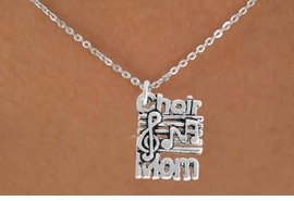 <BR>            LEAD AND NICKEL FREE!  <BR>             ASSEMBLED IN THE USA<BR>  CLICK HERE TO SEE 500+ EXCITING<BR>   CHANGES THAT YOU CAN MAKE!<BR>          W815SN - CHOIR MOM<Br>    NECKLACE FROM $4.50 TO $8.35