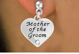 "<BR>                LEAD AND NICKEL FREE!  <BR>    MADE AND ASSEMBLED IN THE USA<BR>                    ALLAN ROBIN DESIGN<BR>      CLICK HERE TO SEE 500+ EXCITING<BR>       CHANGES THAT YOU CAN MAKE!<BR>        W808SE - ""MOTHER OF THE GROOM""<BR> HEART & EARRING FROM $4.50 TO $8.35"