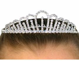 <BR>                       LEAD AND NICKEL FREE <BR> W10015T - BEAUTIFUL AUSTRIAN CRYSTAL<br>                   TIARA FROM $9.26 TO $21.25