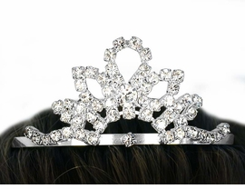 <BR>             LEAD AND NICKEL FREE <bR>   W10548T - SILVER TONE TRIM<br>ROYAL AUSTRIAN CRYSTAL TIARA<br>    HAIR COMB FROM $3.94 TO $8.75