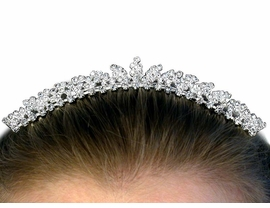 <BR>                     LEAD AND NICKEL FREE <BR> W10576T - GENUINE AUSTRIAN CRYSTAL<Br>     TIARA HAIR COMB FROM $7.85 TO $17.50