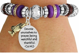 "<BR>               LEAD AND NICKEL FREE!<BR> W17347B - ""DEVOTE YOURSELVES TO  <br>   PRAYER..."" BEAUTIFULLY DETAILED <br>              LORDS PRAYER STRETCH <br>       BRACELET FROM $7.31 TO $16.25"