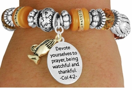 "<BR>               LEAD AND NICKEL FREE!<BR> W17349B - ""DEVOTE YOURSELVES TO  <br>   PRAYER..."" BEAUTIFULLY DETAILED <br>              LORDS PRAYER STRETCH <br>       BRACELET FROM $7.31 TO $16.25"