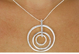 <br>                  LEAD AND NICKEL FREE <BR>W17447NE - POLISHED SILVER FINISH<Br> GENUINE AUSTRIAN CRYSTAL MULTI<Br> CIRCLE DROP NECKLACE & EARRINGS<Br>               FROM $12.64 TO $28.75