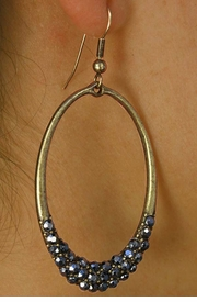 <BR>               LEAD AND NICKEL FREE!!<BR> W17487E - FACETED HEMATITE STONE <BR>        OVAL RING ANTIQUE GOLD TONE <BR>       EARRINGS FROM $5.63 TO $12.50