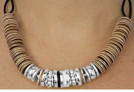 <BR>                 LEAD AND NICKEL FREE!! <BR>      W17801NE - TRIBAL SANDAL WOOD <BR>          COLOR AND SILVER ACCENT <BR>       NECKLACE FROM $16.31 TO $36.25