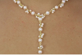 <BR>           LEAD AND NICKEL FREE!! <BR> W17896NE - CLUSTER CREAM FAUX <BR>       PEARL GOLD TONE NECKLACE AND <BR>EARRING SETFROM $12.94 TO $28.75
