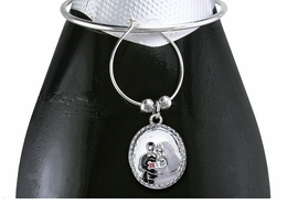 <BR>           LEAD AND NICKEL FREE!!!<BR>W19097WCA - 6-STYLE SILVER TONE<BR>    WEDDING WINE CHARM SET<Br>           FROM $5.63 TO $12.50