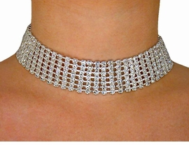 <br>            LEAD AND NICKEL FREE!!<BR>W2073N - BEAUTIFUL SWAROVSKI<BR>     CRYSTAL NECKLACE / CHOKER<BR>            FROM $21.94 TO $40.50