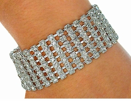 <BR>             LEAD AND NICKEL FREE!!<BR>  W2074B-BEAUTIFUL SWAROVSKI<BR>CRYSTAL STRETCH BRACELET FROM<Br>                     $12.38 TO $27.50