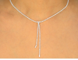 <BR>                    LEAD AND NICKEL FREE!!<BR> W9630NE - GENUINE AUSTRIAN CRYSTAL<br>     THIN DANGLE NECKLACE & EARRINGS<br>               SET FROM $21.94 TO $40.50