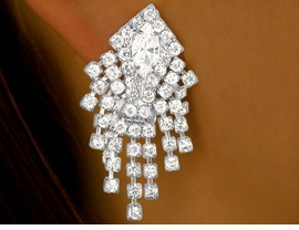 <bR>            LEAD AND NICKEL FREE!!<BR>    W9643E - BRILLIANT AUSTRIAN<Br>CRYSTAL CLIP-ON EARRINGS FROM<bR>                      $7.31 TO $16.25