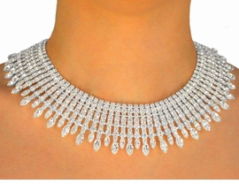 <BR>                    LEAD AND NICKEL FREE <BR>  W9673NE - BREATH-TAKING GENUINE<br>AUSTRIAN CRYSTAL CHOKER & EARRING<Br>           SET YOUR LOW PRICE IS $98.50