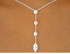 <BR>                  LEAD AND NICKEL FREE!!<bR>      W9684NE - POLISHED SILVER TONE<br>MULTI AUSTRIAN CRYSTAL STRAND DROP<Br>          NECKLACE & EARRING SET FROM<BR>                          $13.00 TO $24.00