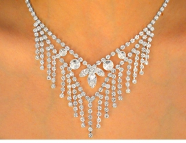 <BR>                     LEAD AND NICKEL FREE!!<BR> W9697NE - STUNNING AUSTRIAN CRYSTAL<br>       DECOR & CASCADING STRAND DROP<br>           NECKLACE & EARRING SET FROM<Br>                            $39.81 TO $73.50