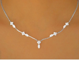 <BR>          LEAD AND NICKEL FREE!!<BR>W9714NE - BEAUTIFUL AUSTRIAN<br>   CRYSTAL NECKLACE & EARRING<bR>        SET FROM $9.75 TO $18.00