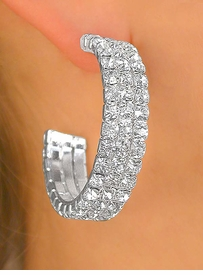 """<BR>          LEAD AND NICKEL FREE!!<BR>   W9925E - GENUINE AUSTRIAN<Br>  CRYSTAL 1 1/2"""" PIERCED HOOP<bR>EARRINGS FROM $7.85 TO $17.50"""