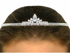 <BR>                    LEAD AND NICKEL FREE  <BR> W9939T - ELEGANT AUSTRIAN CRYSTAL<br>               TIARA FROM $8.44 TO $18.75