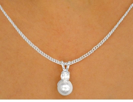 <BR>                  LEAD AND NICKEL FREE!!<bR>    W9961NE - POLISHED SILVER FINISH<Br>       AUSTRIAN CRYSTAL & FAUX PEARL<br>         NECKLACE & EARRING SET FROM<Br>                            $4.88 TO $9.00