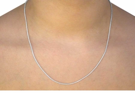 <Br>           LEAD & NICKEL FREE!!<Br> W11856N - SILVER TONE SNAKE CHAIN<Br>NECKLACE FROM $2.75 TO $4.25