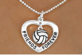 "<Br>           LEAD & NICKEL FREE!!<Br>      AN ALLAN ROBIN DESIGN!!<BR>W13075N - ""FRIENDS FOREVER""<Br>    HEART & VOLLEYBALL DROP<Br>    NECKLACE AS LOW AS $4.70"