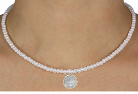 "<Br>                 LEAD & NICKEL FREE!!<Br>                  EXCLUSIVELY OURS!!<Br>            AN ALLAN ROBIN DESIGN!!<br>    W14702N - CHILDREN'S 13"" FAUX<br>PEARL ""1ST COMMUNION"" NECKLACE<Br>               FROM $6.19 TO $13.75"