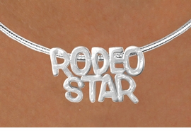 "<Br>                   LEAD & NICKEL FREE!!<Br>                    EXCLUSIVELY OURS!!<Br>              AN ALLAN ROBIN DESIGN!!<Br>   W16152N - LARGE ""RODEO STAR"" &<br>SILVER TONE CABLE COLLAR NECKLACE<Br>                  FROM $5.06 TO $11.25<BR>                                    ©2010"