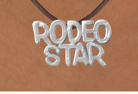"<Br>            LEAD & NICKEL FREE!!<Br>             EXCLUSIVELY OURS!!<Br>       AN ALLAN ROBIN DESIGN!!<Br>W16155N - LARGE ""RODEO STAR""<Br> BROWN SUEDE NECKLACE FROM<Br>                    $3.38 TO $7.50<BR>                              ©2010"
