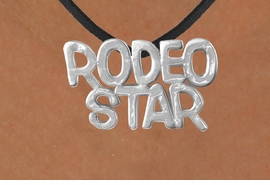 "<Br>              LEAD & NICKEL FREE!!<Br>               EXCLUSIVELY OURS!!<Br>        AN ALLAN ROBIN DESIGN!!<Br>W16158N - LARGE ""RODEO STAR""<Br>   BLACK SUEDE NECKLACE FROM<Br>                    $3.38 TO $7.50"