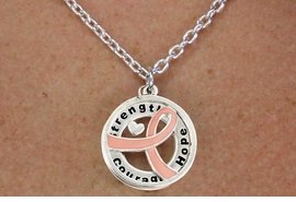 "<BR>                       LEAD & NICKEL FREE!!<Br>                        EXCLUSIVELY OURS!!<Br>                      AN ALLAN ROBIN DESIGN!!<bR>              W18645NE - PINK AWARENESS <BR>     RIBBON LAYERED ""STRENGTH COURAGE <BR>                   HOPE"" NECKLACE & EARRING <Br>             SET FROM $6.75 TO $15.00 ©2011"