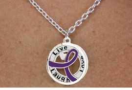 "<BR>                       LEAD & NICKEL FREE!!<Br>                        EXCLUSIVELY OURS!!<Br>                      AN ALLAN ROBIN DESIGN!!<bR>              W18659NE - PURPLE AWARENESS <BR>            RIBBON LAYERED ""LIVE LAUGH <BR>                   LOVE"" NECKLACE & EARRING <Br>             SET FROM $6.75 TO $15.00 ©2011"