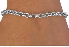 <bR>LEAD, CADMIUM, & NICKEL FREE!!<Br>W14152B - SILVER TONE CHAIN<BR>     LOBSTER CLASP BRACELET <BR>           FROM $2.75 TO $4.25