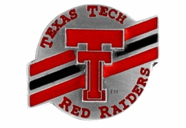 <br>               LEAD & NICKEL FREE!!<Br>      OFFICIAL COLLEGE LICENSED!!<Br>W15162P - TEXAS TECH UNIVERSITY<Br> RED RAIDERS PIN AS LOW AS $3.65