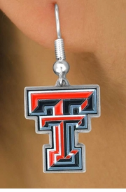 <Br>                     LEAD & NICKEL FREE!!<Br>           OFFICIAL COLLEGE LICENSED!!!<bR>      W15164E - TEXAS TECH UNIVERSITY<Br>RED RAIDERS EARRINGS FROM $4.73 TO $11.25