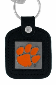 <Br>                LEAD & NICKEL FREE!!<BR>       OFFICIAL COLLEGE LICENSED!!<Br>  W15181KC - CLEMSON UNIVERSITY<Br>    TIGERS GENUINE BLACK LEATHER<bR>FRAMED KEY CHAIN AS LOW AS $2.99