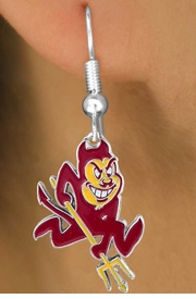 <Br>                   LEAD & NICKEL FREE!!<Br>         OFFICIAL COLLEGE LICENSED!!!<bR>W15764E - ARIZONA STATE UNIVERSITY<Br>           SUN DEVILS EARRINGS FROM<Br>                         $2.99