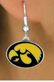 <Br>            LEAD & NICKEL FREE!!<Br>  OFFICIAL COLLEGE LICENSED!!!<bR>W15798E - UNIVERSITY OF IOWA<bR>    HAWKEYES EARRINGS FROM<Br>                  $5.06 TO $11.25