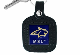 <Br>                LEAD & NICKEL FREE!!<BR>      OFFICIAL COLLEGE LICENSED!!<Br>      W15968KC - MONTANA STATE<Br>     UNIVERSITY BOBCATS GENUINE<bR>BLACK LEATHER FRAMED KEY CHAIN<Br>               FROM $6.19 TO $13.75