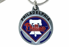 <bR>                 LEAD & NICKEL FREE!!!<br>             OFFICIAL MLB LICENSED!!<br>           MAJOR LEAGUE BASEBALL!!<Br>W15642KC - PHILADELPHIA PHILLIES<BR>                   KEY CHAIN FROM $2.99