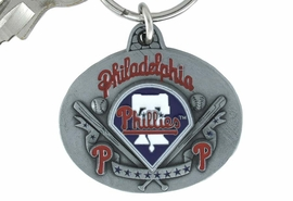 <bR>                 LEAD & NICKEL FREE!!!<br>             OFFICIAL MLB LICENSED!!<br>           MAJOR LEAGUE BASEBALL!!<Br>W15643KC - PHILADELPHIA PHILLIES<BR>                   KEY CHAIN FROM $2.99